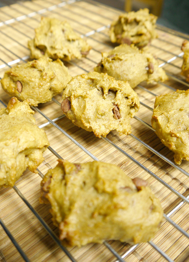 clean eating chocolate chip avocado cookies