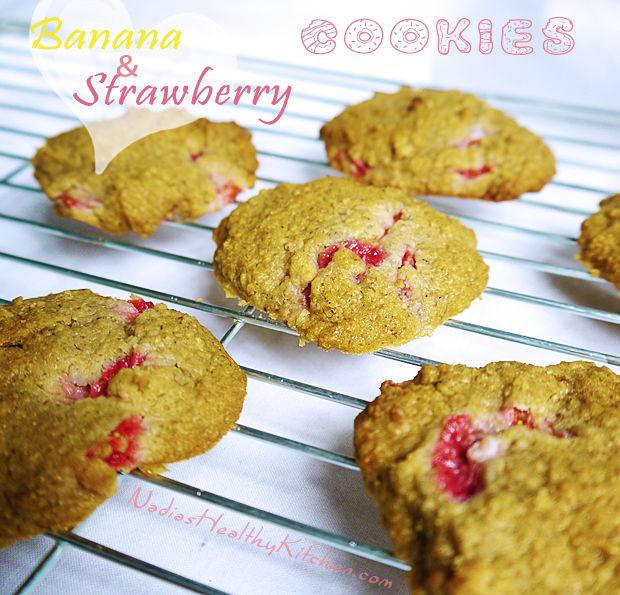 clean eating banana strawberry cookies