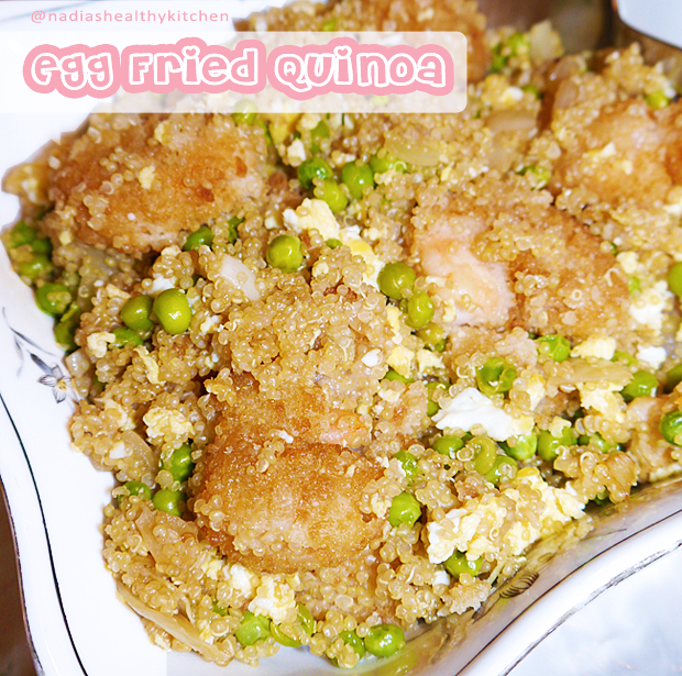 clean eating egg fried quinoa