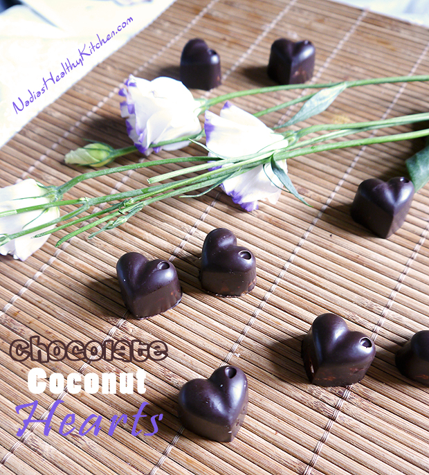 clean eating chocolate coconut hearts