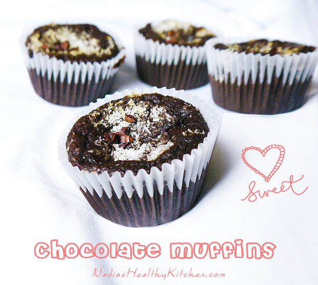 clean eating chocolate muffins