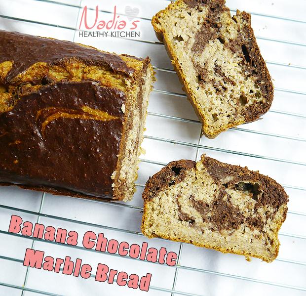 Clean Eating Banana Chocolate Marble Bread - UK Health Blog - Nadia's ...