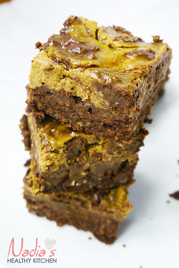 clean eating pumpkin cheesecake brownies
