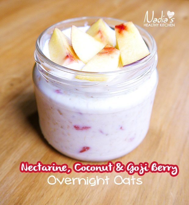 nectarine overnight oats