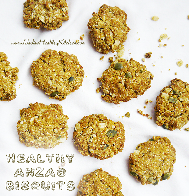 clean eating anzac biscuits
