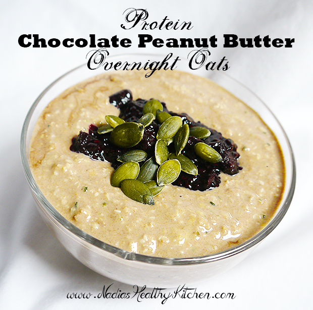 protein chocolate peanut butter overnight oats
