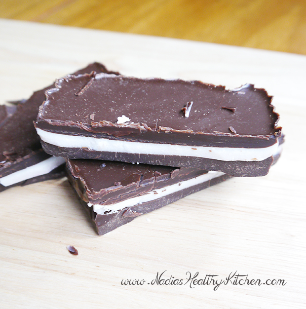 Homemade coconut oil chocolate