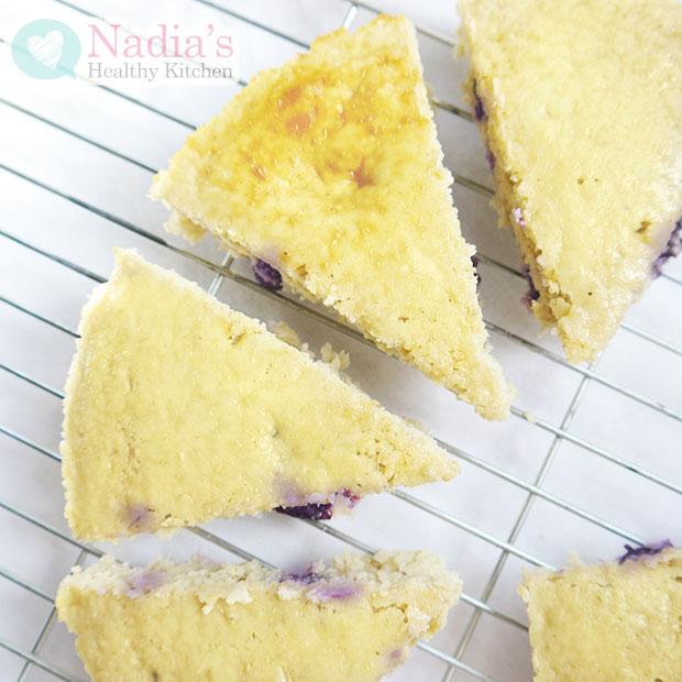blueberry protein cake