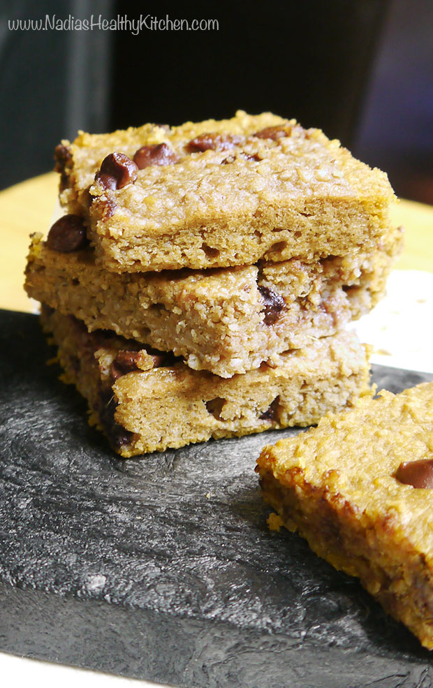 healthy chocolate chip squares