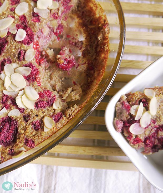 baked raspberry oatmeal