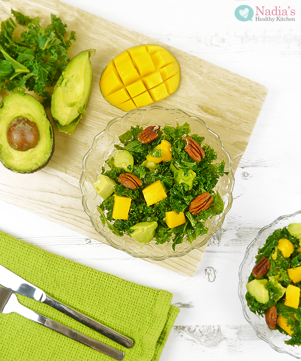 Kale, Mango and Avocado Salad
