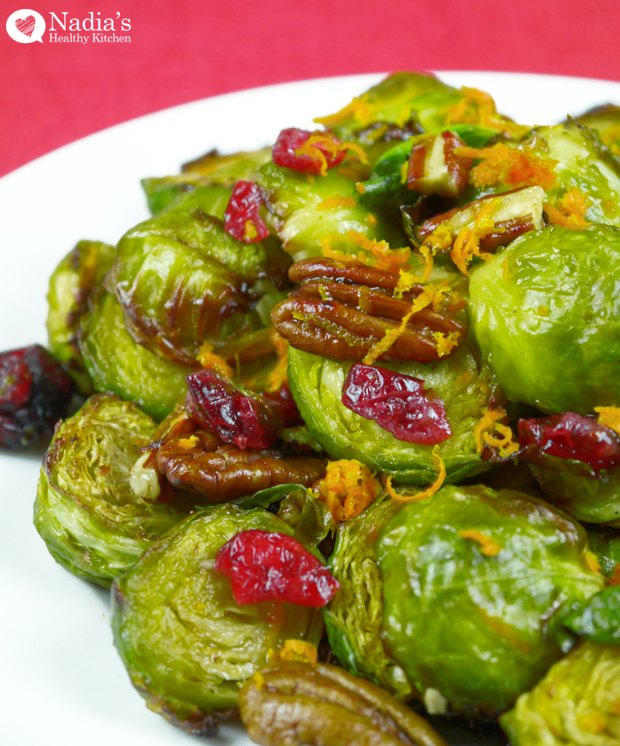 Roasted-Brussels-Sprouts-with-Cranberries-and-Pecans