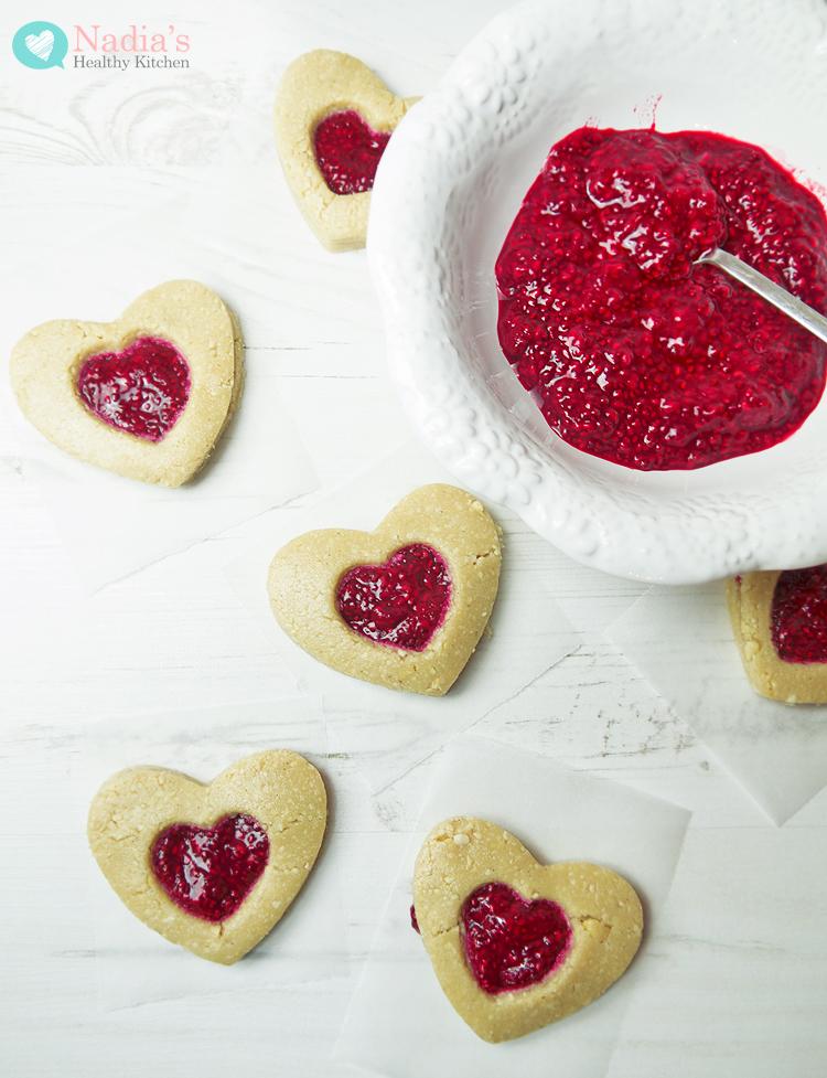 healthy Linzer-Cookies