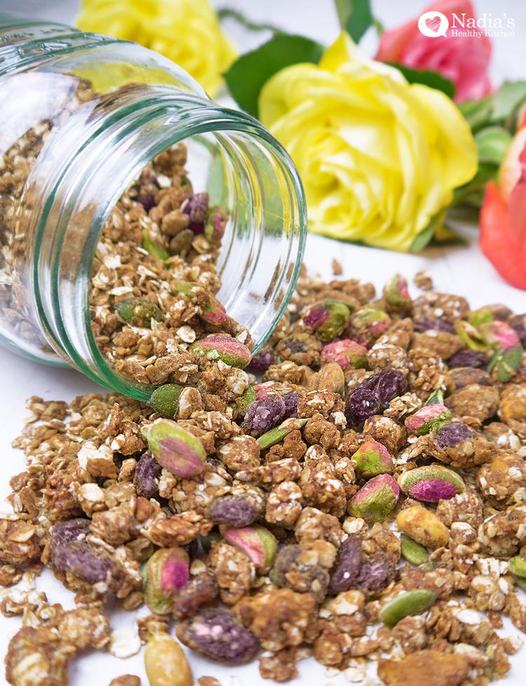 healthy tahini granola