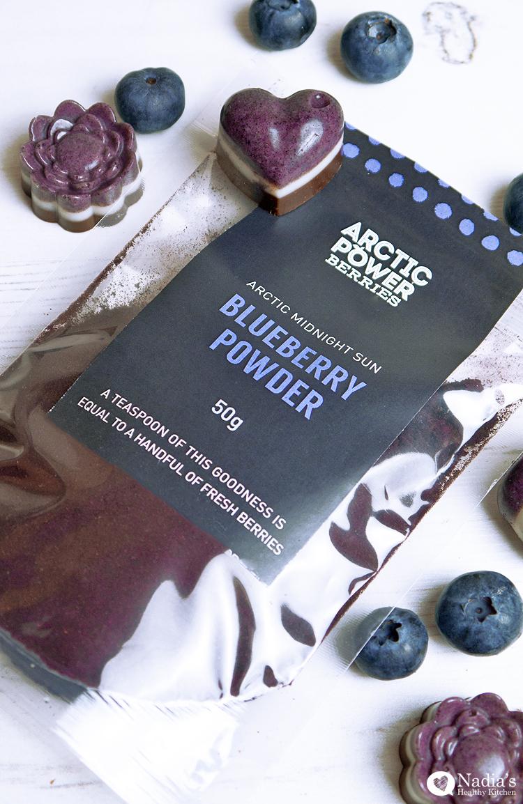 cacao coconut blueberry chocolates