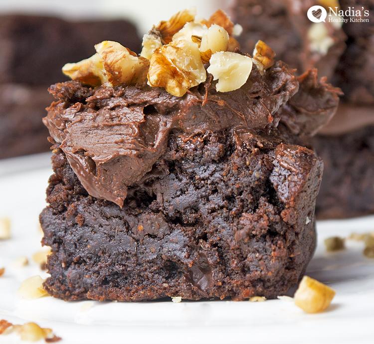 healthy spelt brownies