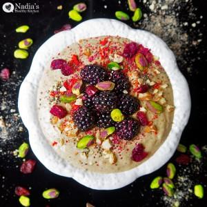 banana, date and almond buckwheat porridge