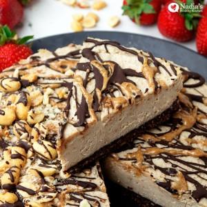 vegan peanut butter cheesecake