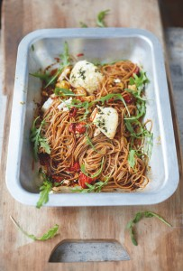 Jamie Oliver's Everyday Super Food GIVEAWAY – Plus His Spelt Spaghetti, Vine Tomatoes and Baked Ricotta Recipe