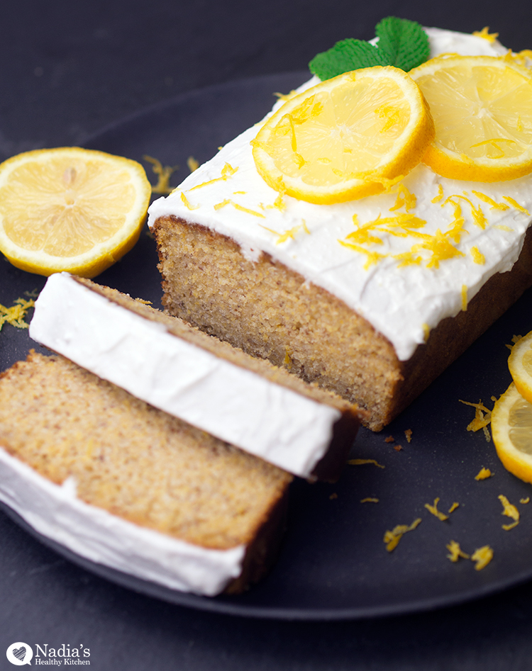 Lemon Almond Polenta Cake Vegan