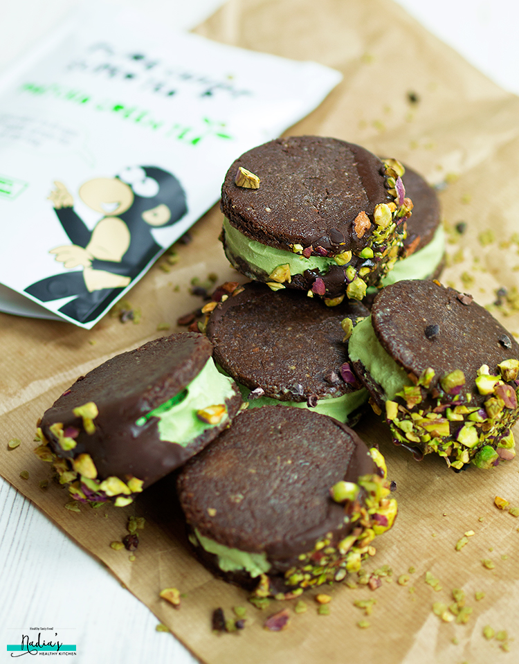 ... chocolate and chopped pistachios. I love the crunch you get when you