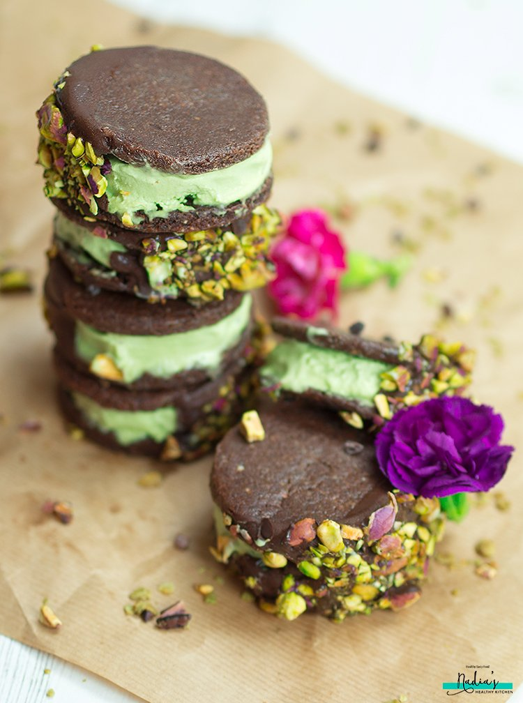 Chocolate Matcha Ice Cream Sandwiches - UK Health Blog - Nadia's ...