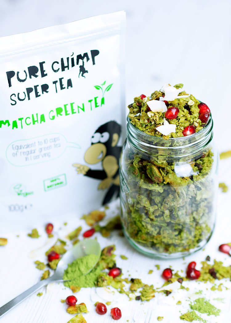 Matcha Coconut Granola Vegan Gluten Free Uk Health Blog Nadia S Healthy Kitchen