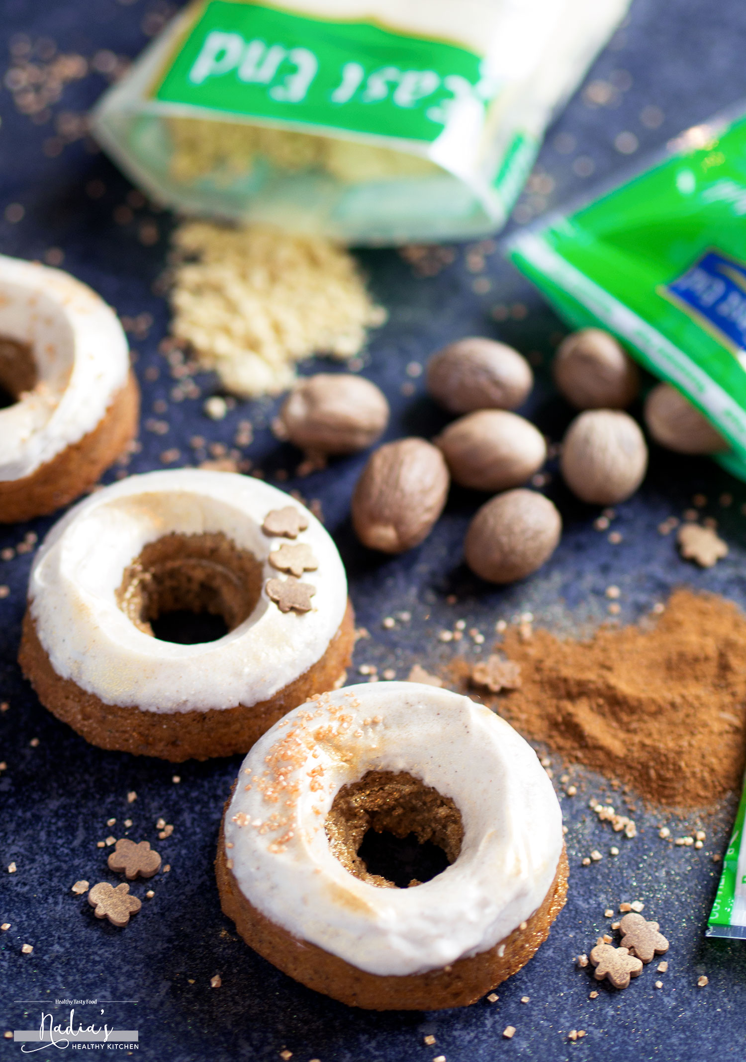 Vegan Gluten-free Gingerbread Doughnuts - UK Health Blog - Nadia's ...