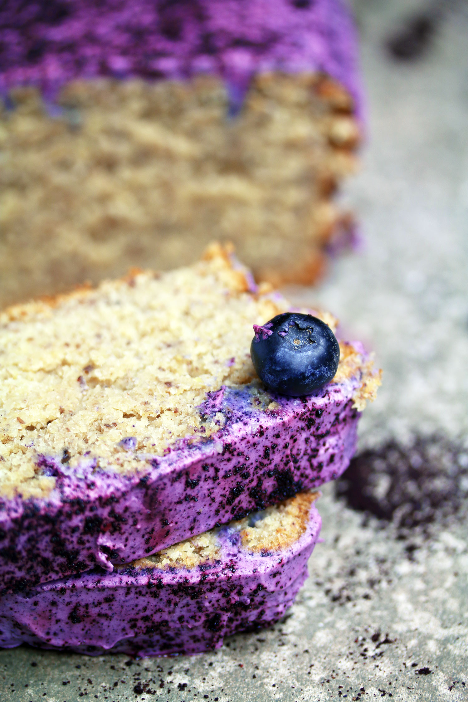 Vegan Gluten-free Banana Blueberry Bread