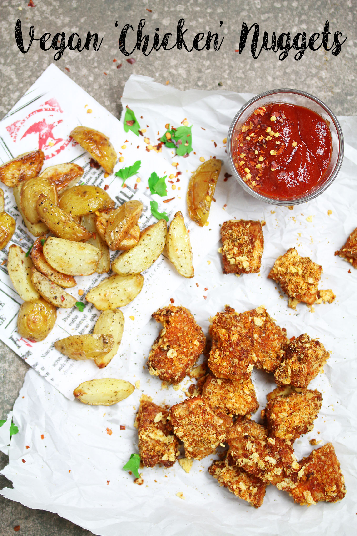 Vegan Tofu 'Chicken' Nuggets