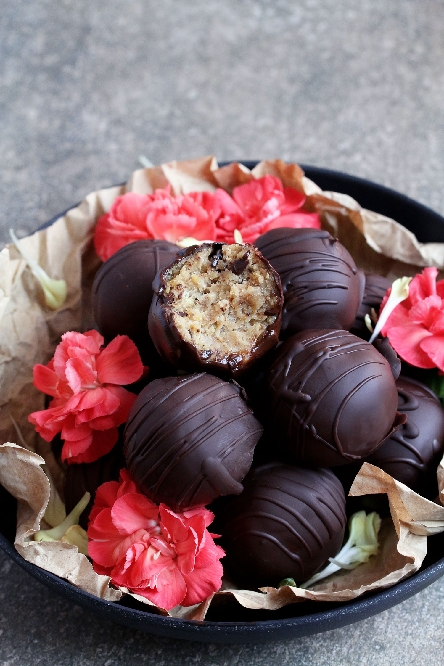 Chickpea Cookie Dough Truffles