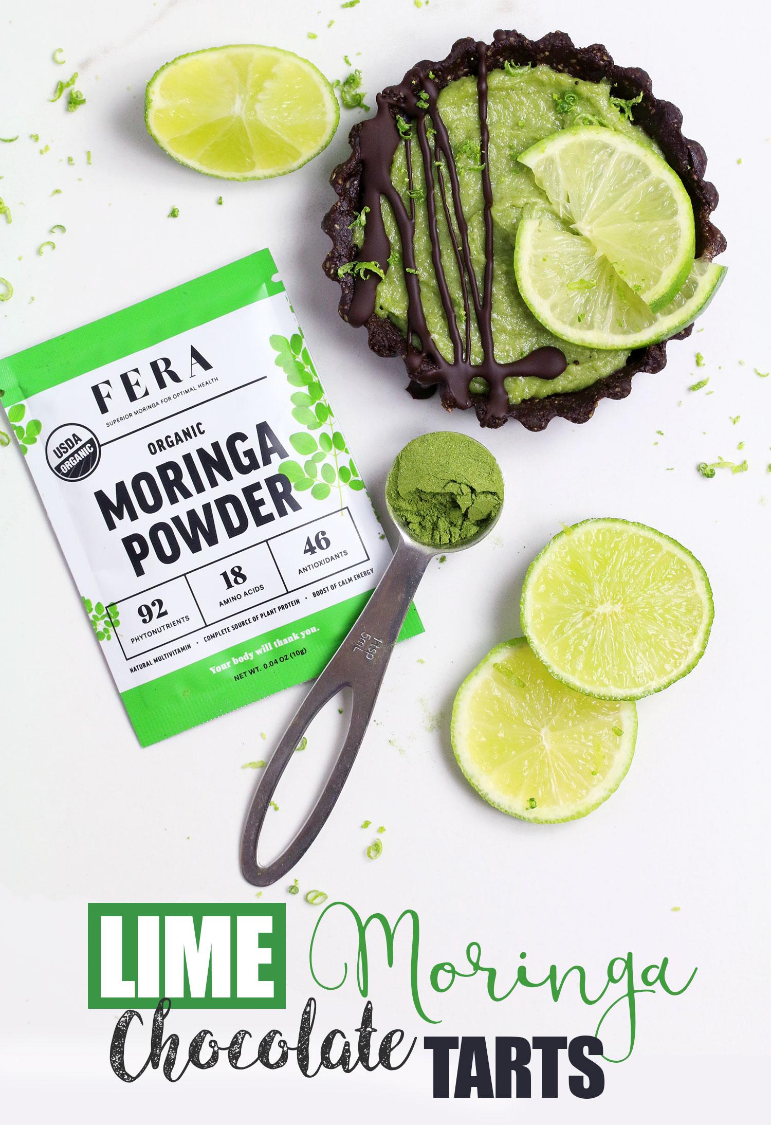 Moringa Lime Chocolate Tarts