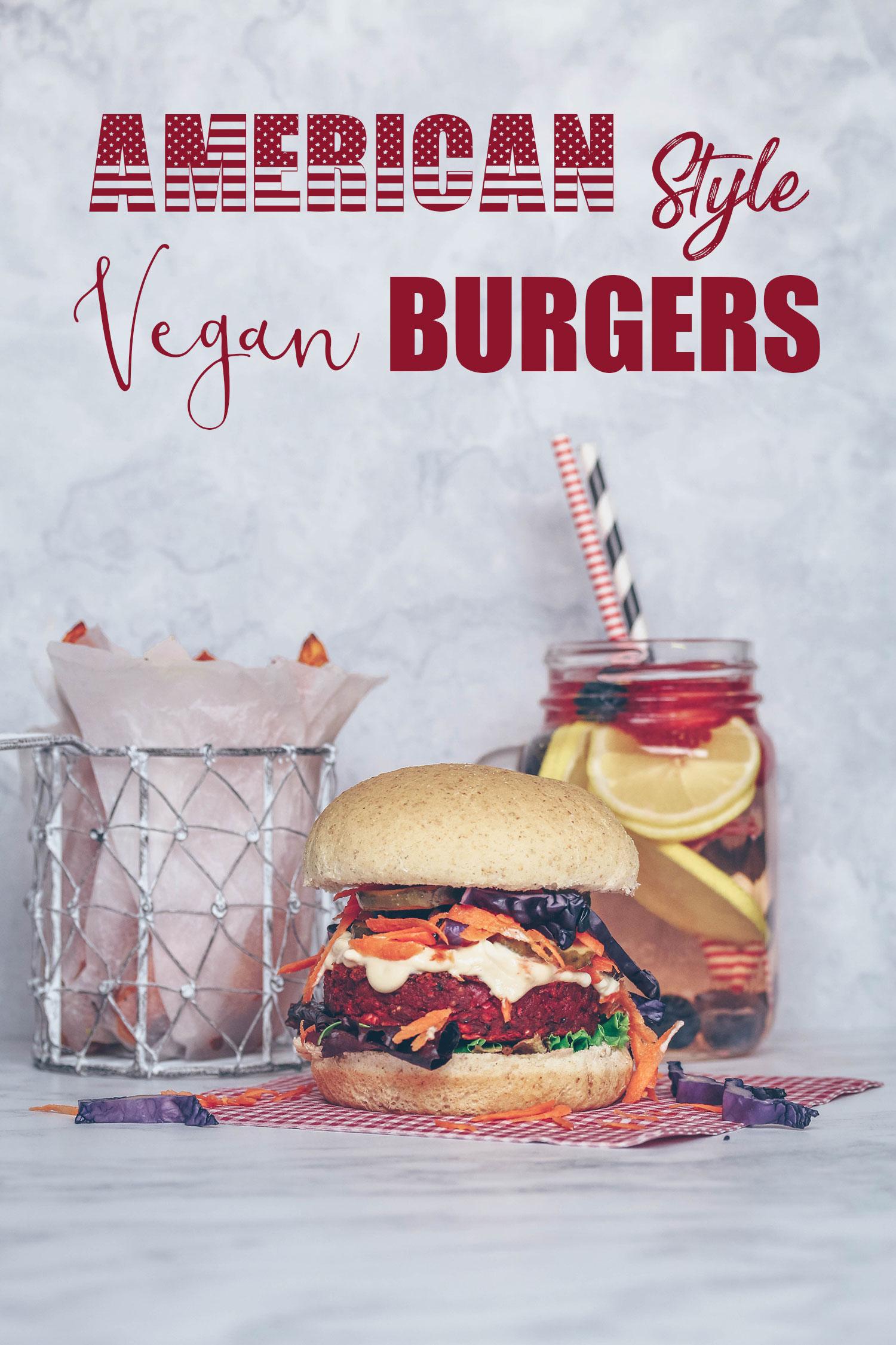 American Style Vegan Burgers
