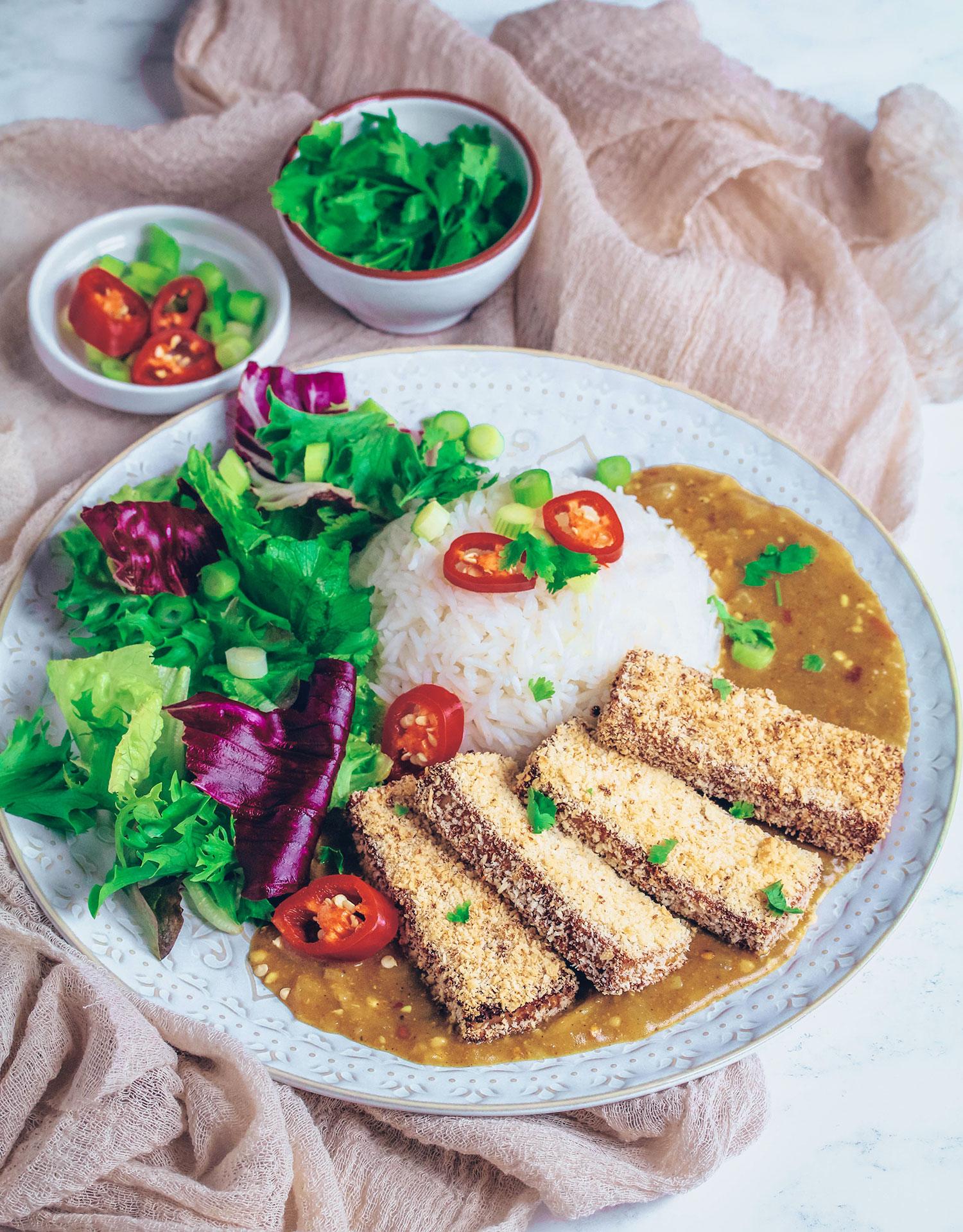 Tofu Katsu Curry (Vegan & Gluten-free)