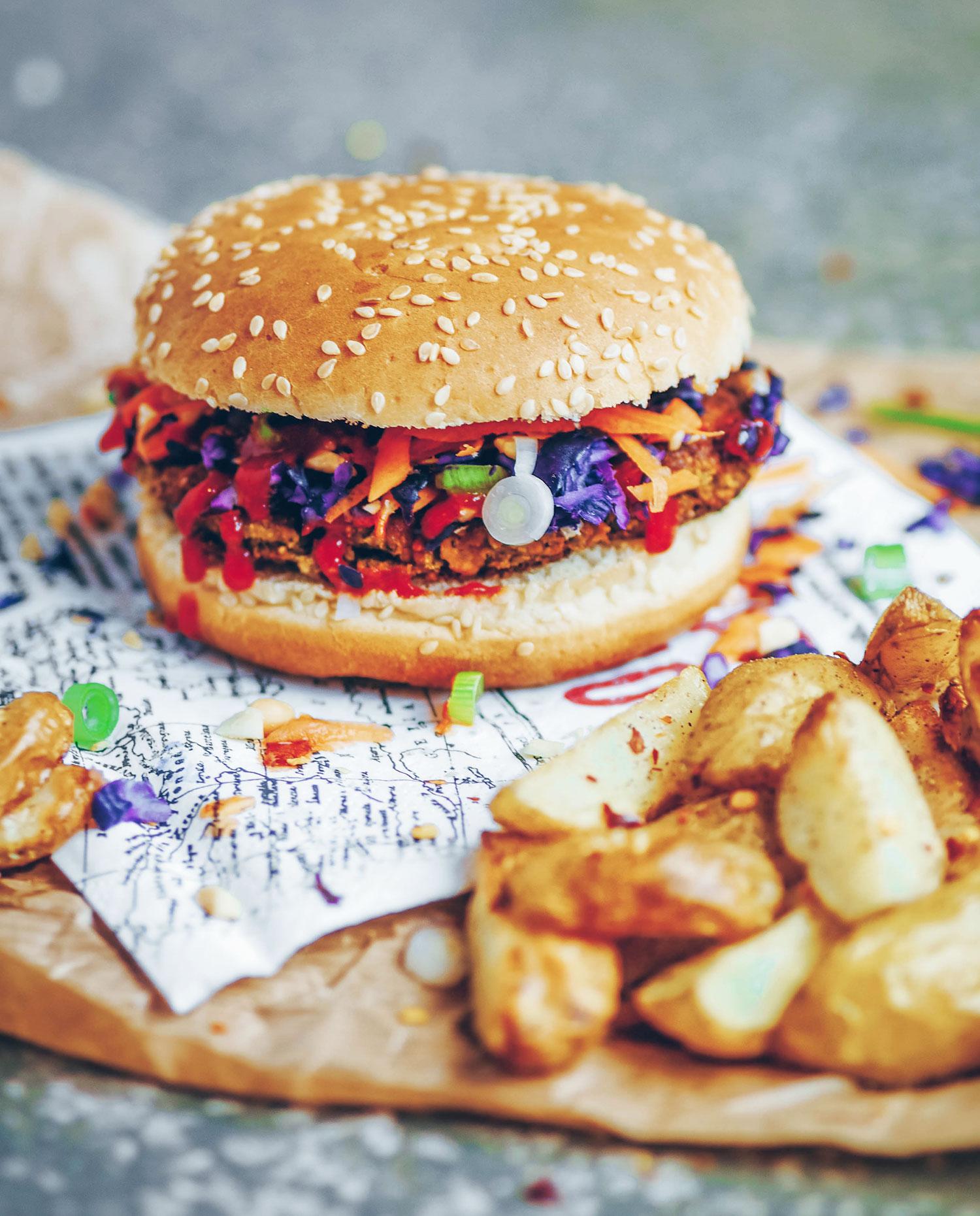 Asian Edamame Burgers (Vegan & Gluten-free)