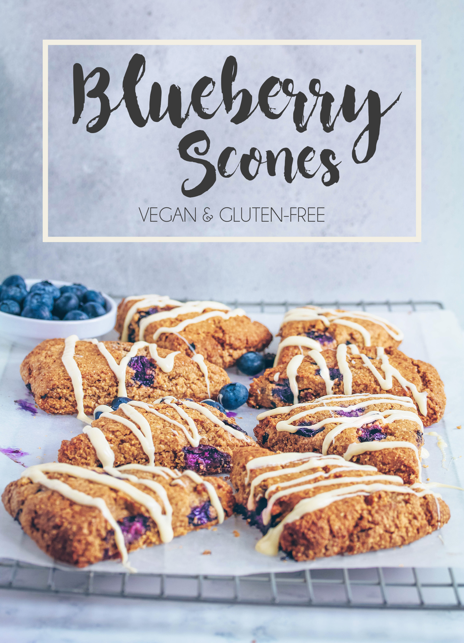 Blueberry Scones (Vegan & Gluten-free)