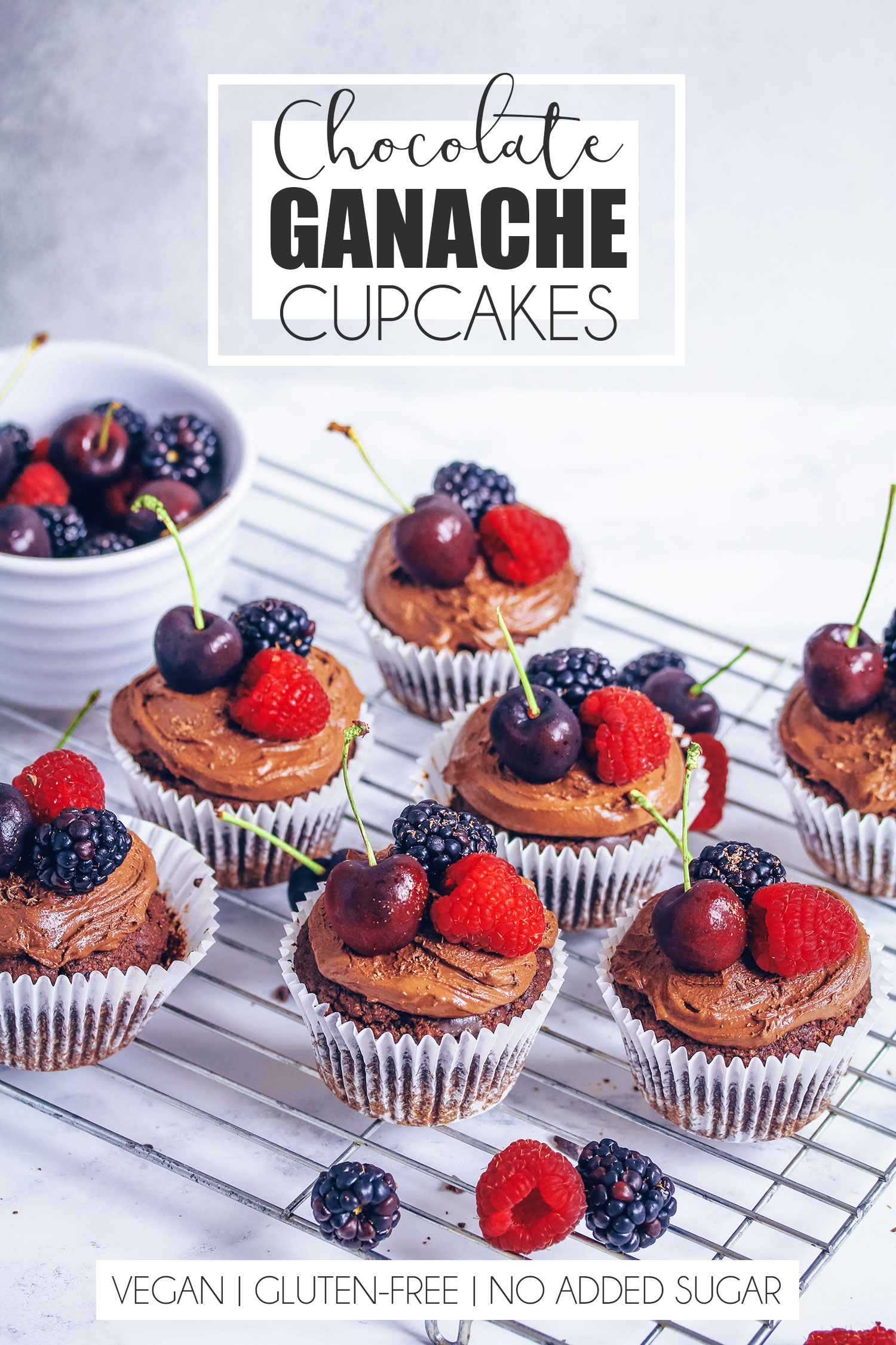 Chocolate Ganache Cupcakes (Vegan & Gluten-free)