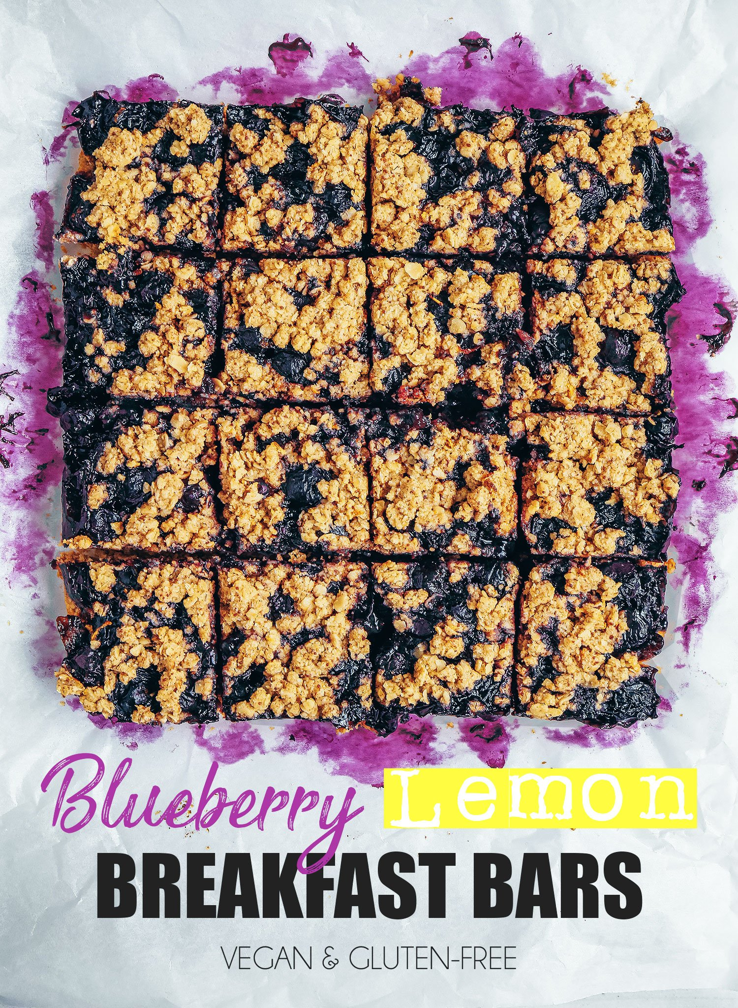 Blueberry Lemon Breakfast Bars