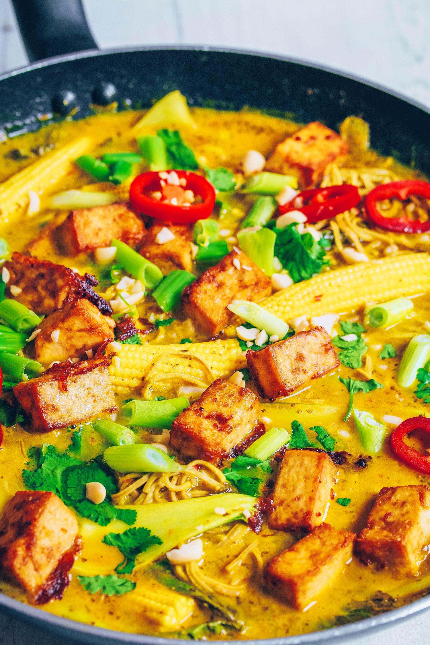 Coconut Edamame Noodle Soup (Vegan & Gluten-free)