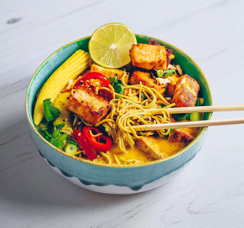 Coconut Edamame Noodle Soup Vegan Gluten Free Uk