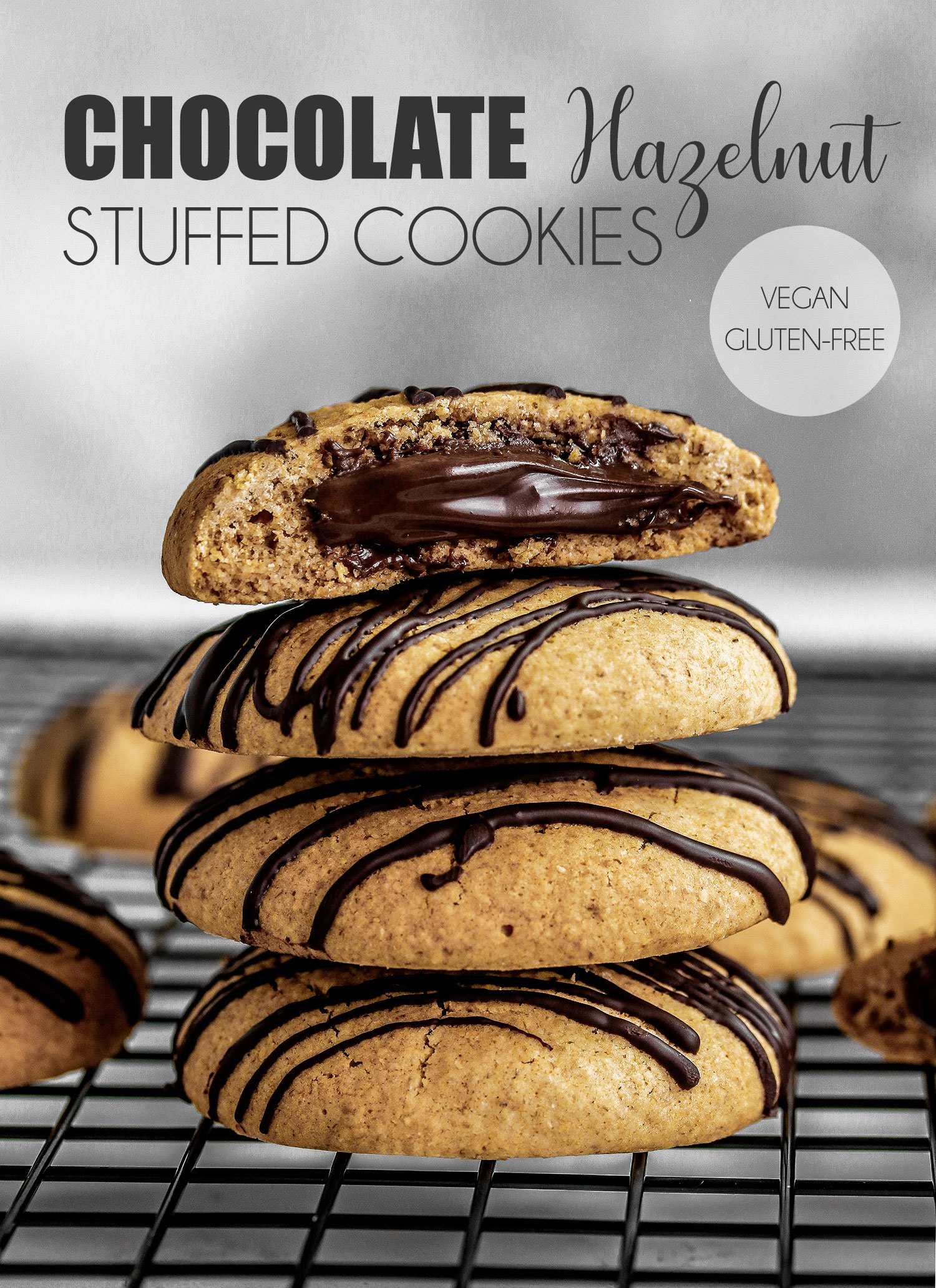 Vegan & Gluten-free Chocolate Hazelnut Stuffed Cookies