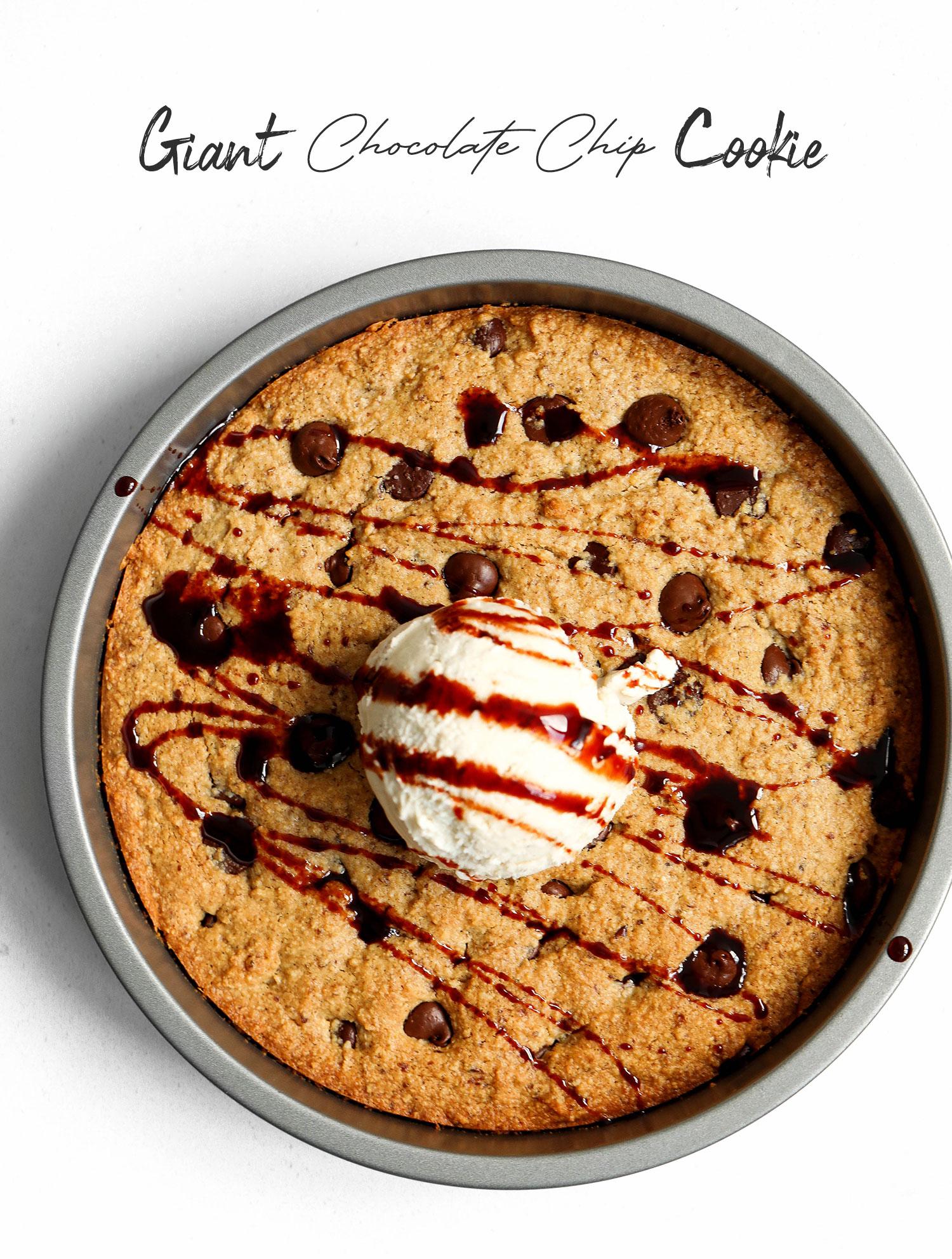 Vegan & Gluten-free Skillet Chocolate Chip Cookie