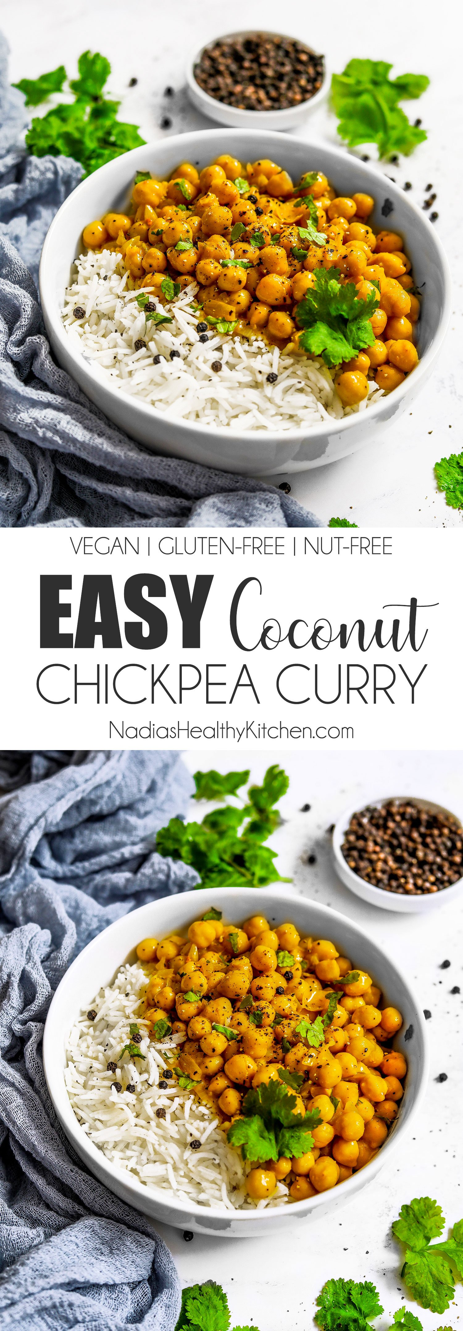 Easy Coconut Chickpea Curry