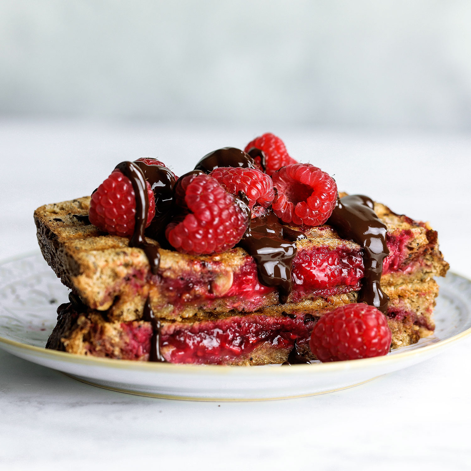 Almond Butter Raspberry Toastie