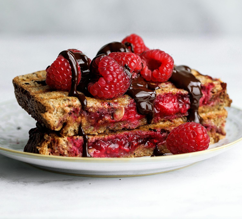 Almond Butter Raspberry Toastie