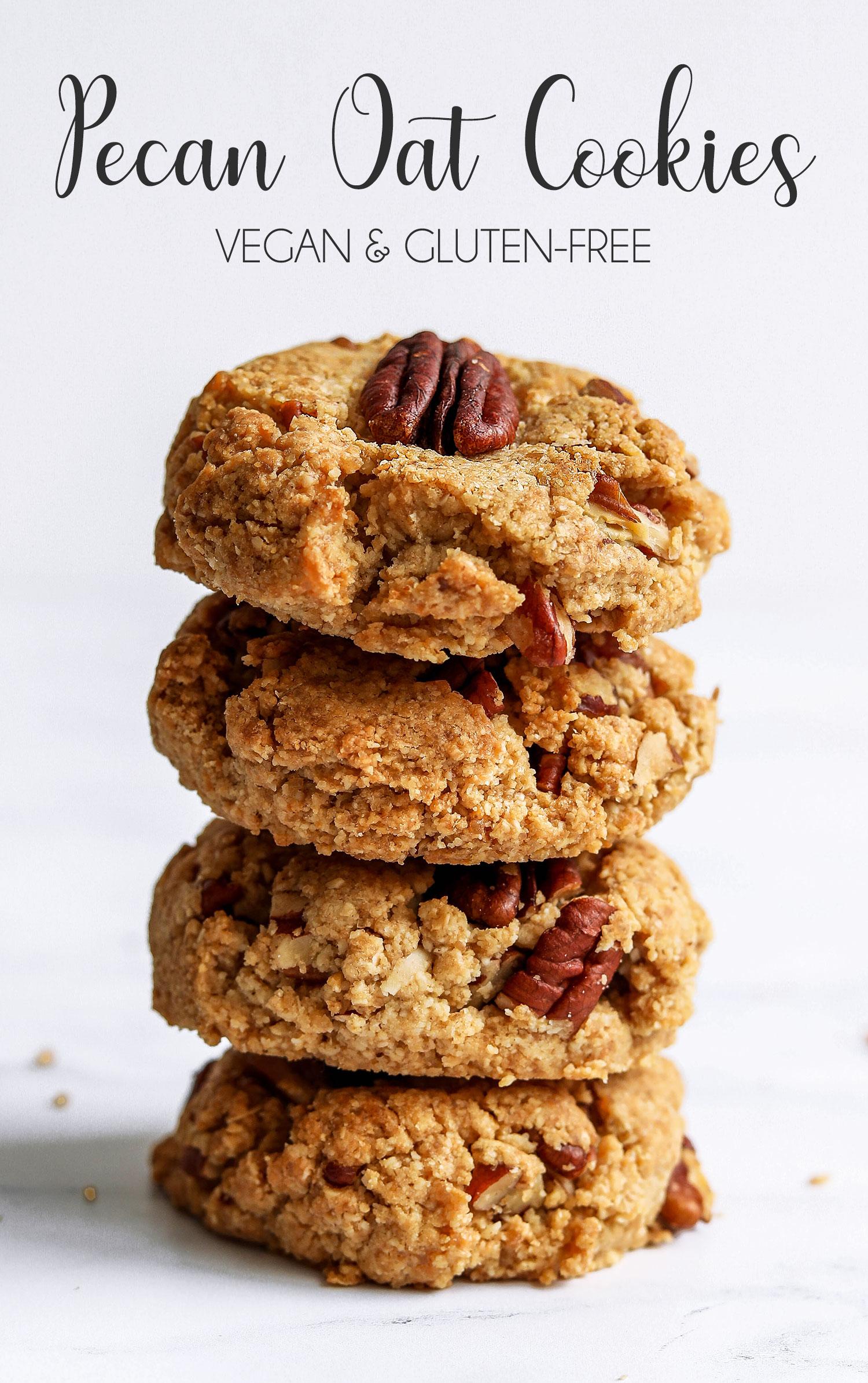 Vegan and Gluten-free Pecan Oat Cookies