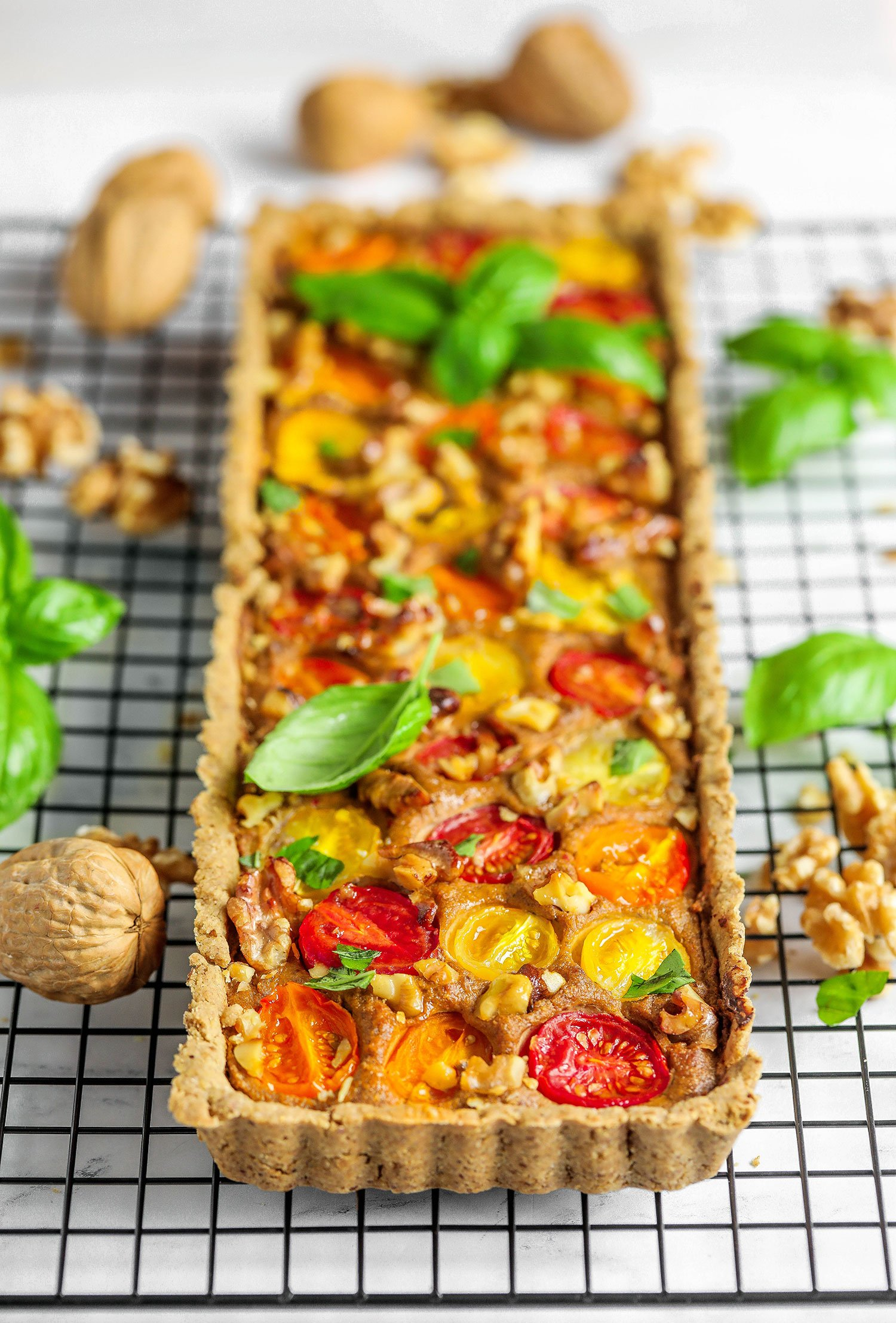 California Walnut Tomato & Tofu Quiche
