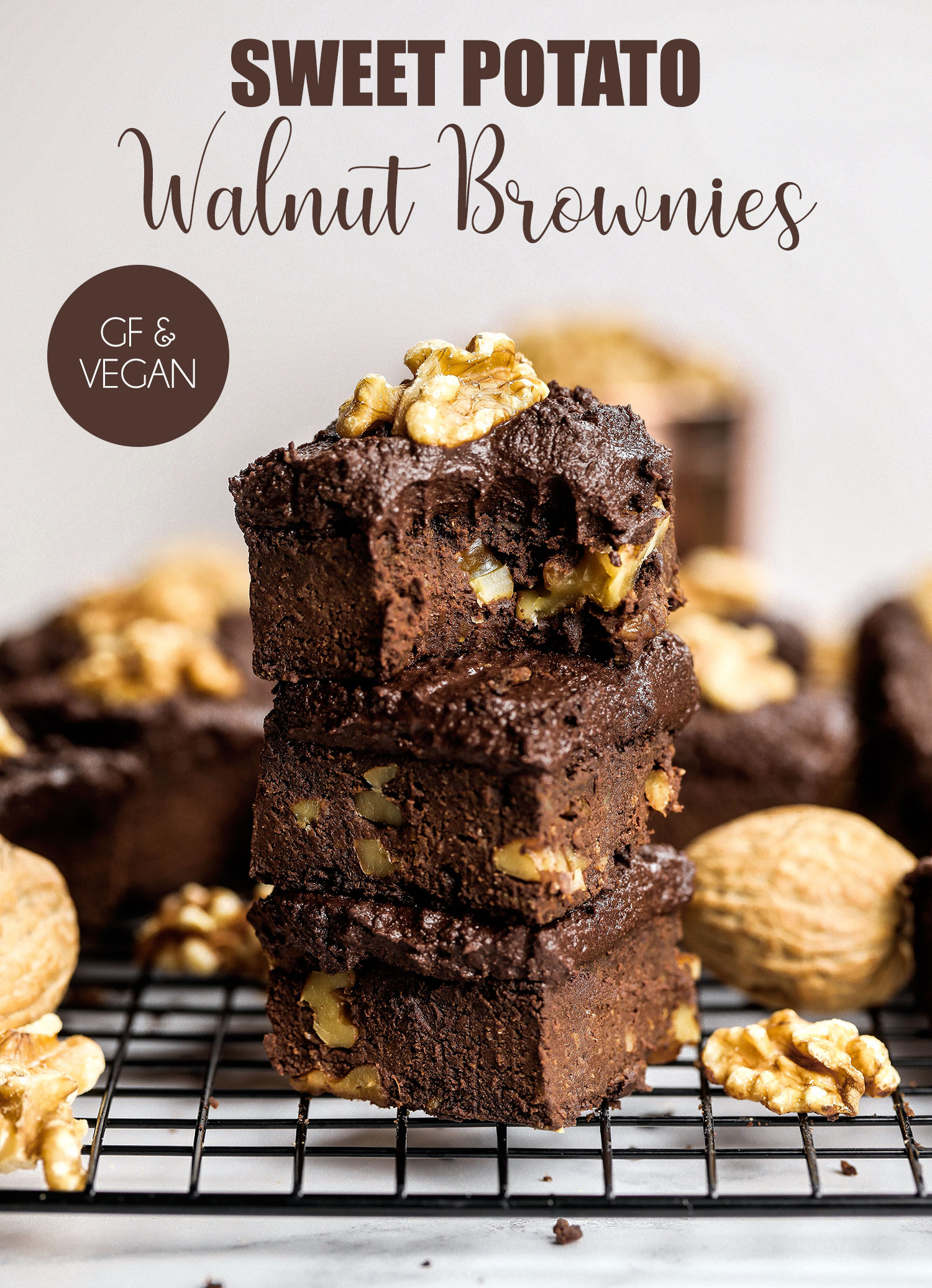 California Walnut & Sweet Potato Brownies
