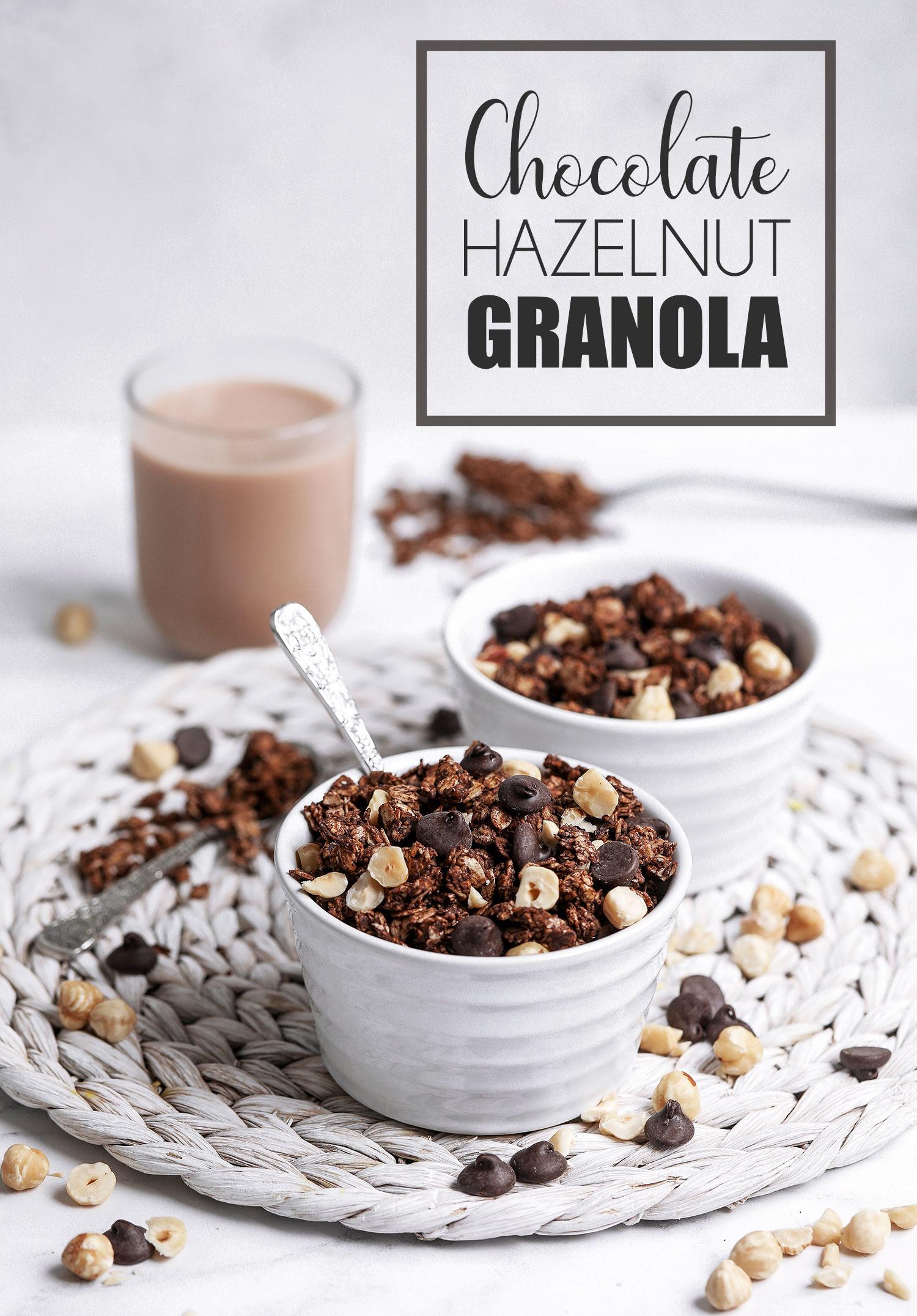 Vegan & Gluten-free Chocolate Hazelnut Granola
