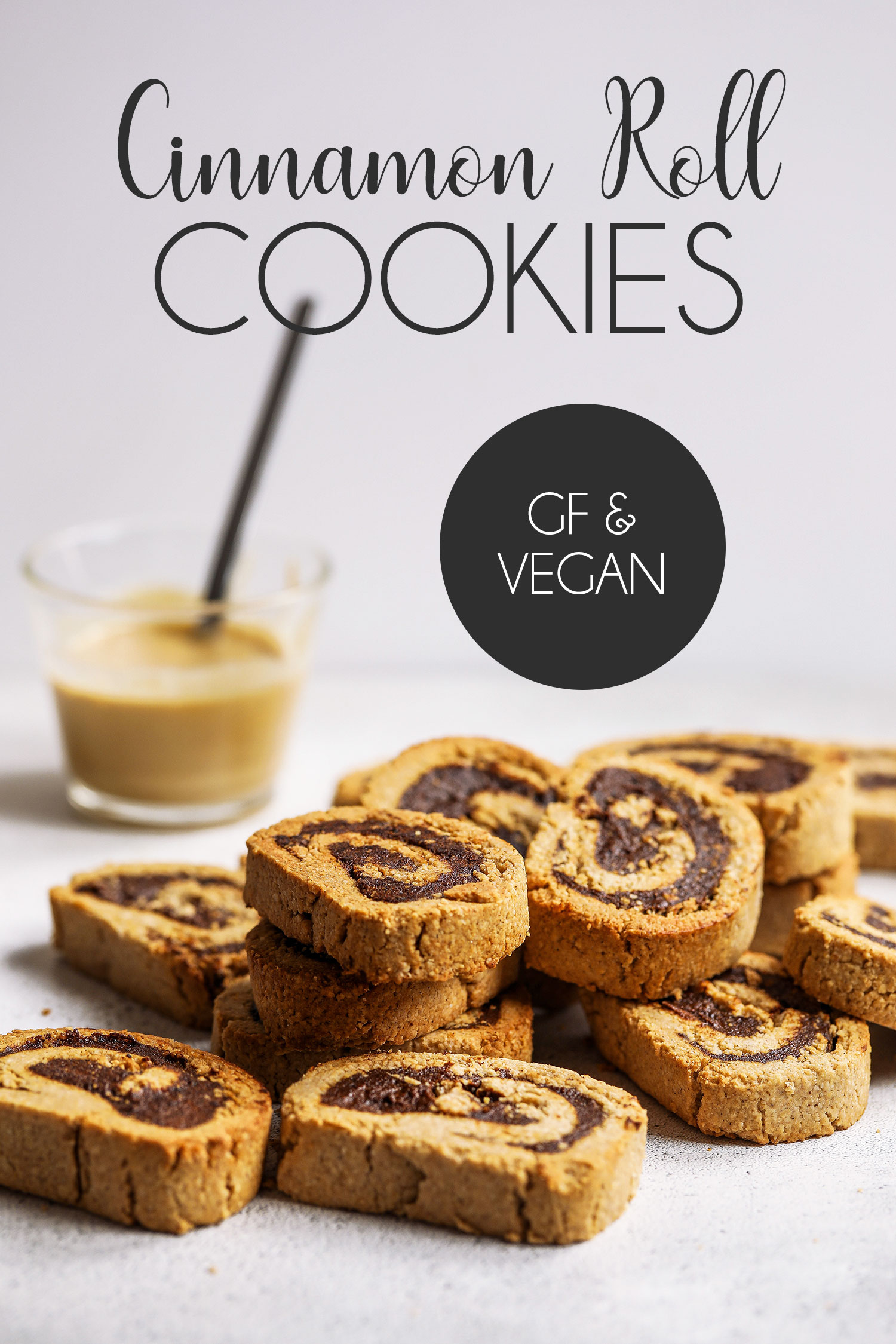 Vegan Gluten-free Cinnamon Roll Cookies